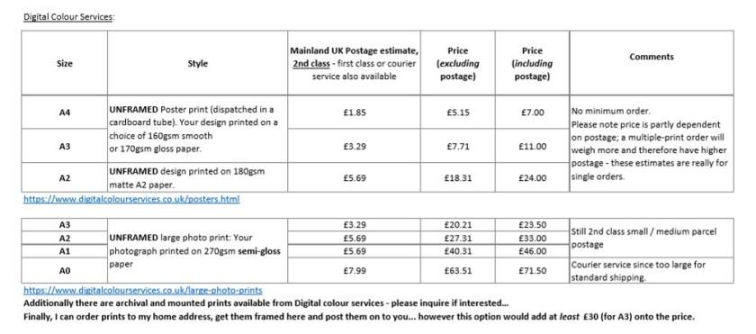 Print pricing - 10-09-18